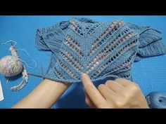 Needlepoint Designs, Knitting Stitches, Baby Dress, Knitted Hats, Crochet Top, Dresses, Jumpers, Youtube, Fashion