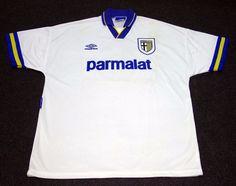4c48b7ac7 Original TOMAS BROLIN Match Worn Shirt, Maccabi Haifa Vs Parma, 20 October  1993 #Umbro