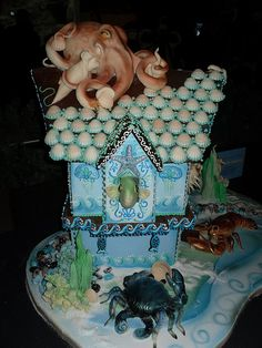 Undersea Gingerbread House by Karen Portaleo/ Highland Bakery, via Flickr
