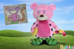 This is seriously the neatest most amazin thing ive ever heard of. I wish i could have had on  of my childhood drawings turned into on  of these... i love it so much. Budsies: We Turn Kids Artwork Into Cuddly Plush Gift