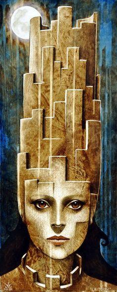 Matteo Arfanotti 1974 | Italy The Tower Tarot, Blood Art, Caribbean Art, Art Addiction, Surrealism Painting, Magic Realism, Major Arcana, Collage, Portrait Art