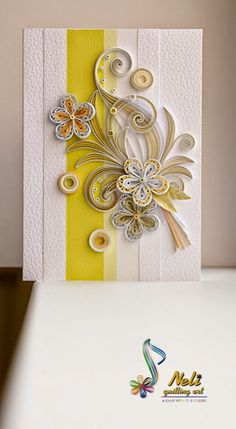 neli: Quilling card /14.8 cm- 10.5 cm/
