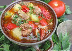Sałatka z pomidorów na zimę - Obżarciuch Thai Red Curry, Chicken, Meat, Ethnic Recipes, Food, Essen, Meals, Yemek, Eten