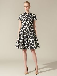 Cotton Pleated Shirt Dress by Giambattista Valli