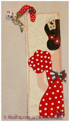 Marcapáginas pintados a mano, decorados con tela y abalorios. Marca la diferencia!!!