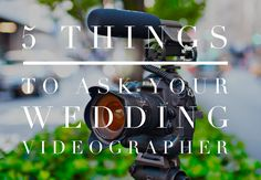 5 Things to Ask Your Wedding Videographer! A must for all Brides! #WinnipegWeddings #WeddingVideography