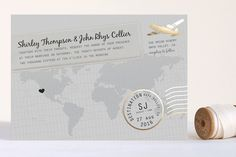 A Faraway Destination Foil-Pressed Wedding Invitations by bumble ink at minted.com
