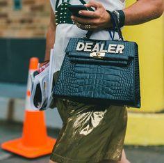 Custom crocodile purse // The Best Street Style Inspiration From NYFW: (http://www.racked.com/2015/9/11/9309889/nyfw-street-style#4829912)