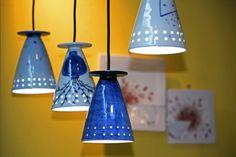 Lamps made of ceramics, Icheon, South Korea