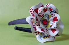 Queen of Hearts Poker Card Headband by LittleAsianSweatshop, $27.00