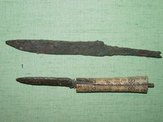 9th century bone handled Viking knife, Yorkshire Museum.