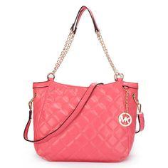 Michael Kors Quilted Large Pink Shoulder Bag