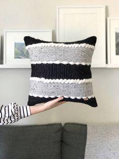 Handwoven pillow / Minimalist throw pillow / Luxury woven