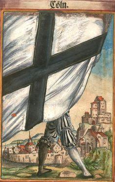 "Köln [Cöln] (= Cologne) (f°4) -- Koebel, Jacob, ""Wapen des heyligen römischen Reichs teutscher Nation"", Franckfurth am Main, 1545 [BSB Ms. Rar. 2155]"