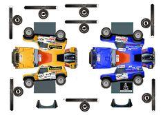 papercraft racing trucks | Un lindo regreso en el tiempo.