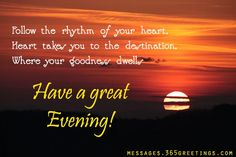 Good Evening SMS, Text Messages and Good Evening Greetings - Messages, Wordings and Gift Ideas