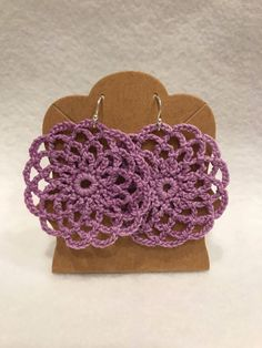 Excited to share the latest addition to my #etsy shop: Lavander crochetnlace mandala earrings