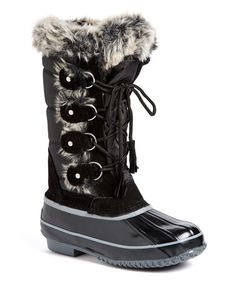 Look what I found on #zulily! Black Sienna Boot #zulilyfinds
