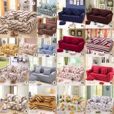 Sofa Beds Universal Stretch Sofa Slipcover Skid Washable Seater Pillow Covers FS