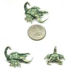 scorpion made from dollar bill origami by won park