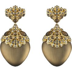 Alexis Bittar Teatro Moderne Gold Chandelier Post Earring ($255) ❤ liked on Polyvore