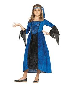 Another great find on #zulily! Blue Renaissance Girl Dress-Up Set - Girls by RG Costumes #zulilyfinds