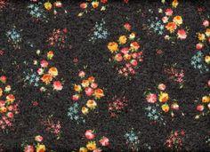 Cozy Floral Sweater Knit Black