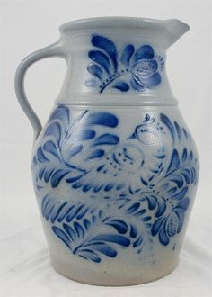 Salt-glazed Stoneware Pitcher Eldreth