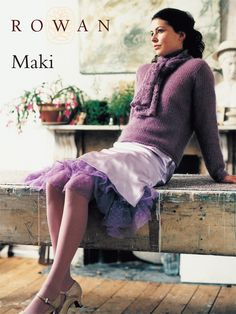 Maki is a crocheted sweater with scarf detail. Free Rowan pattern:  http://www.knitrowan.com/files/patterns/Maki.pdf