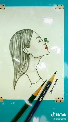 65 Ideas cool art drawings sketches for 2019 Art Drawings Sketches Simple, Girl Drawing Sketches, Pencil Art Drawings, Sketch Art, Easy Drawings, Pencil Sketches Of Girls, Cool Sketches, Painting & Drawing, Drawing Drawing