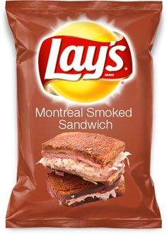 Montreal Smoked Sandwich Lay's Potato Chip. I would eat that!