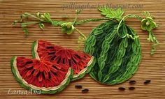 quilling - watermelon