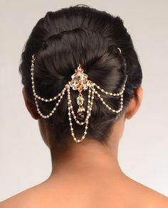 Heena Kundan Hair Pin  by Bansri Joaillerie