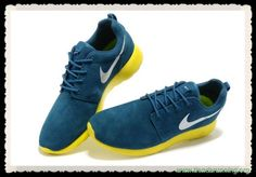 zapatos baratos online Nike Roshe Run Dark azul/Iron Gray/Lightning Amarillo 511881-089