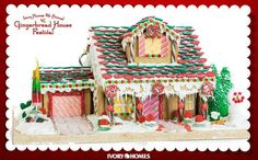 The fool-proof gingerbread house recipe and instructions. #momitforward