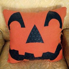 A personal favorite from my Etsy shop https://www.etsy.com/listing/248214658/jack-o-lantern-t-shirt-pillow