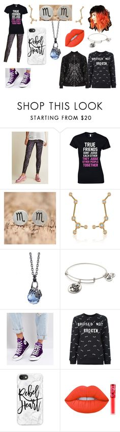 """Friend"" by fem-red-hood ❤ liked on Polyvore featuring NOVICA, Stephen Webster, Alex and Ani, Converse, Zoe Karssen, Casetify, Lime Crime and Manon Baptiste"