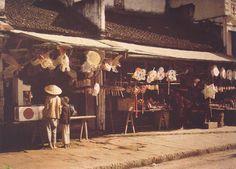 Albert Kahn: Rue du Chanvre, Hanoi (1915)