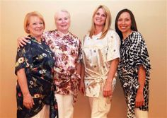 A beautiful group of ladies wearing Radiant Wrap! A perfect gift for you or someone you love just diagnosed with Breast Cancer.  www.theradiantwrap.com  $59