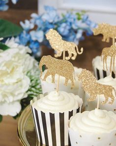 💙🦁🐯🙉💙Loved these gorgeous safari animal glitter cupcake toppers - they added a bit of sparkle to this dessert table I styled last weekend for the lovely Simone who is expecting her gorgeous baby boy in a few weeks ✨✨cupcakes, styling and photography by @the_aesthetic_styling_co #evedeso #eventdesignsource - posted by THE AESTHETIC STYLING CO https://www.instagram.com/the_aesthetic_styling_co. See more Event Designs at http://Evedeso.com