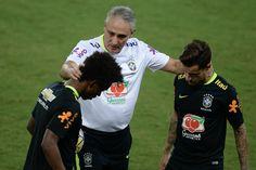 Tite escala Brasil com Coutinho em vez de Willian e Thiago Silva no banco #globoesporte