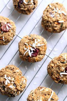 Healthy filling breakfast • Morning Glory Breakfast Cookies