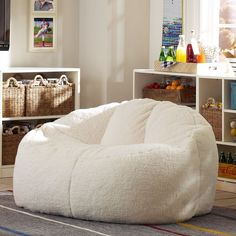 Ivory Sherpa Cloud Couch | PBteen