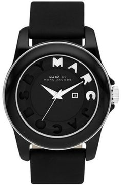 Marc by Marc Jacobs MBM4009 Icon Stripe Watch Marc by Marc Jacobs. $168.00. 30 Meters / 100 Feet / 3 ATM Water Resistant. Mineral Crystal. 43mm Case Diameter. Quartz Movement