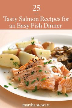 Salmon is super simple to cook and so versatile, as you'll see from this collection of family-friendly healthy recipes. From hearty chowders to homemade sushi, and when either is made with baked—not raw fish—either is a family-friendly recipe that can be easily added to your weeknight dinner favorites. #marthastewart #recipes #recipeideas #seafoodrecipes #seafooddinners #seafood Delicious Salmon Recipes, Easy Salmon Recipes, Fish Recipes, Seafood Recipes, Salad Recipes, Dinner Recipes, Healthy Recipes, Recipies, Homemade Sushi