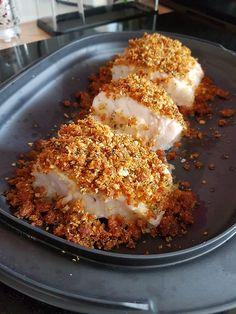 Cod back in a chorizo & basil crust - cuisine - Meat Recipes Meat Recipes, Dinner Recipes, Cooking Recipes, Healthy Recipes, Drink Recipes, Healthy Food, Food Items, Lard, Food Inspiration