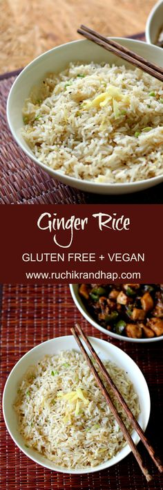 Subtly flavoured and aromatic ginger rice is a perfect accompaniment to any Indo-Chinese side dish and doubles up as a lunchbox option! Rice Recipes, Indian Food Recipes, Asian Recipes, Beef Recipes, Vegetarian Recipes, Healthy Recipes, Ethnic Recipes, One Pot Meals, Easy Meals