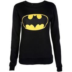Batman Print Sweatshirt ($15) ❤ liked on Polyvore