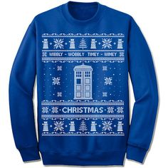Ugly Sweater. Doctor Who. Christmas Sweatshirt. Scandinavian Motive. Ugly Christmas Sweater. Party. Nordic. Wibbly-Wobbly. Timey-Wimey.