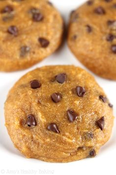 The classic combination of pumpkin and chocolate chips is absolutely irresistible, especially when combined together in soft and chewy cookies!